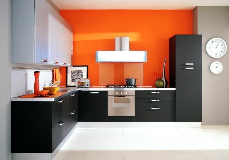 Bucatarie cu mobilier negru
