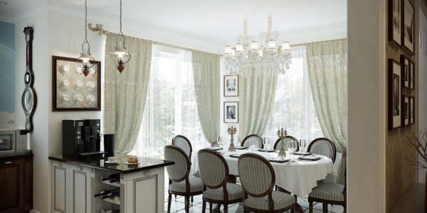 Bucatarie eleganta cu decor englezesc