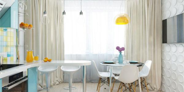 Bucatarie moderna cu masa si bar