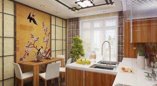 Decor japonez bucatarie