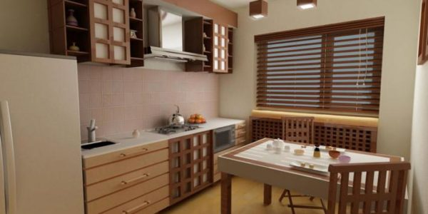 Decor minimalist japonez in bucatarie