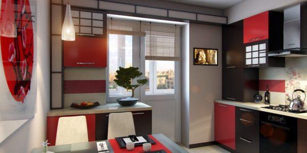 Design interior japonez bucatarie