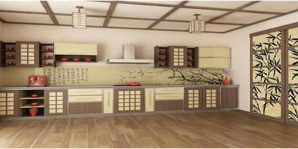 Design japonez bucatarie