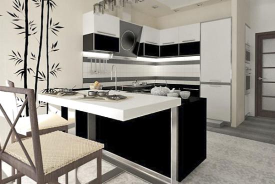 Design japonez minimalist bucatarie