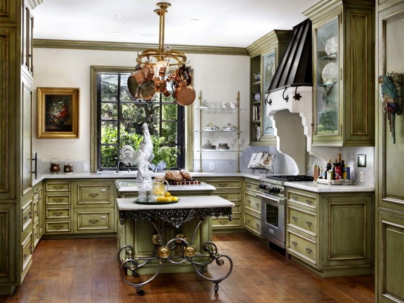 Design provesal verde in bucatarie