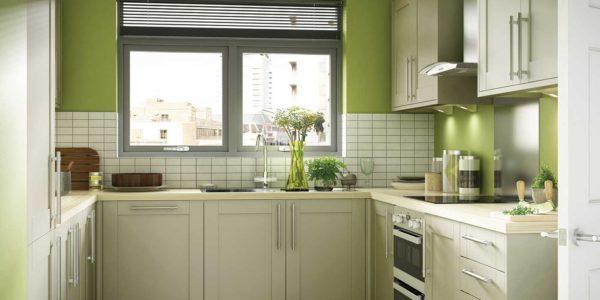 Design verde in bucatarie