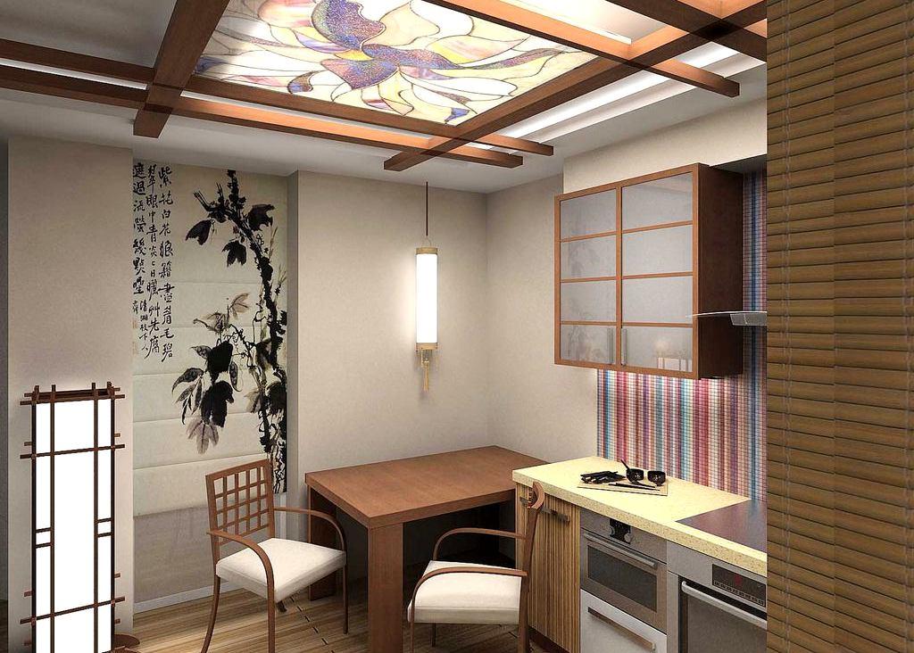 Dining amenajat in stil japonez