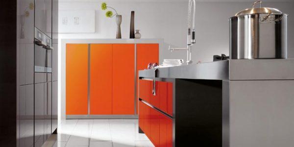 Mobilier modern negru portocaliu