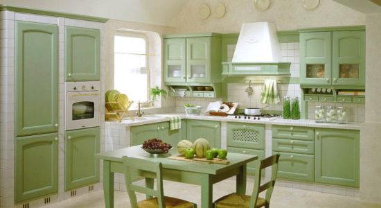 Mobilier verde masliniu