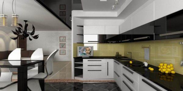 Bucatarie cu mobilier in 2 culori