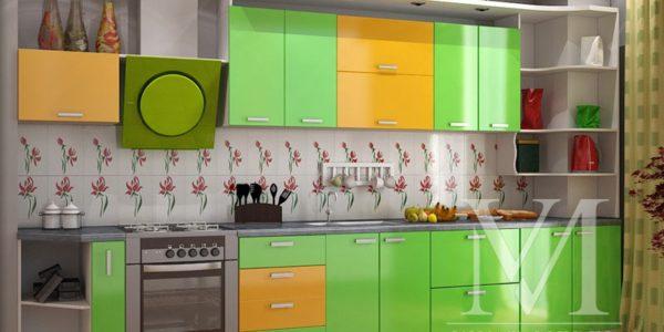 Bucatarie cu mobilier in doua culori