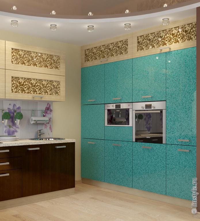 Bucatarie eleganta cu decor turcoaz