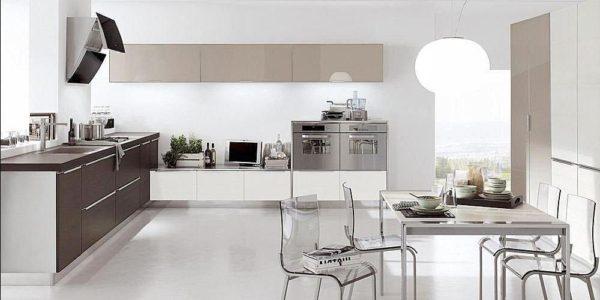 Bucatarie mare cu design minimalist