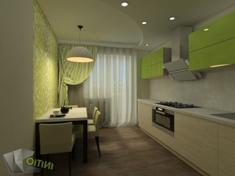 Bucatarie eleganta cu decor verde fistic