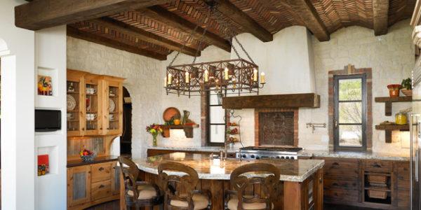 Decor mediteranean bucatarie cu dining