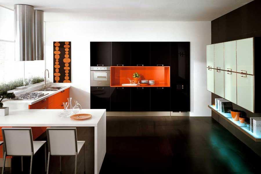 Decor minimalist bucatarie eleganta
