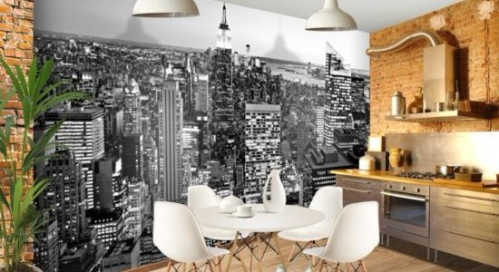 Decor modern industrial bucatarie