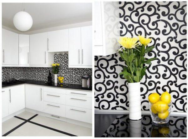 Design albe negru bucatarie
