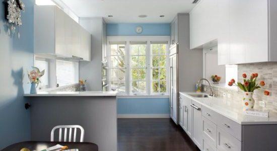 Design bleu gri bucatarie