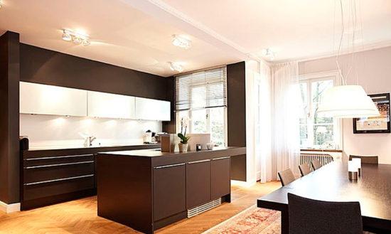 Design elegant bucatarie deschisa