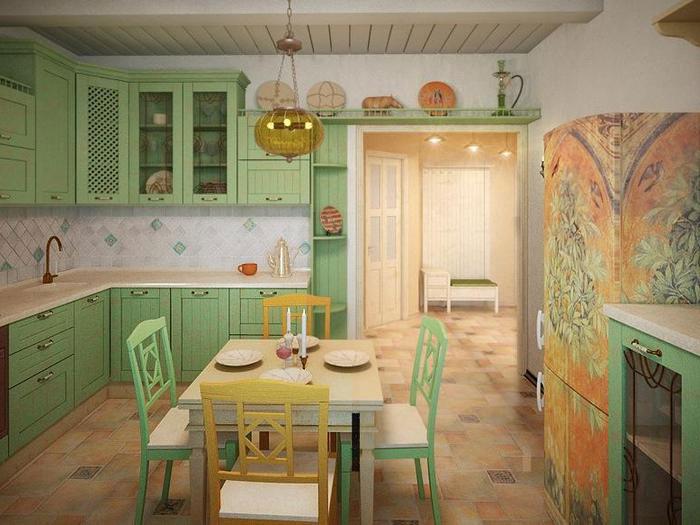 Design mediteranean bucatarie apartament