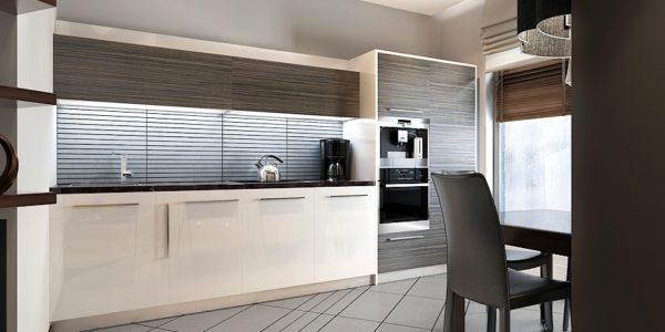 Design minimalist bucatarie mica