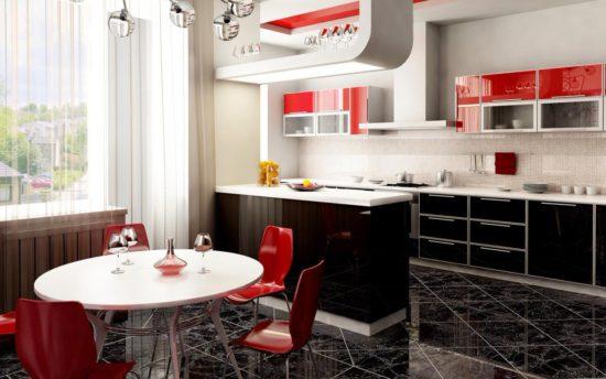 Design modern alb-negru bucatarie