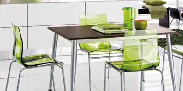 Mobilier alb-verde dining
