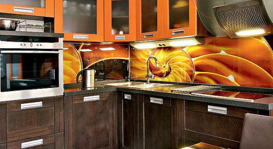 Panou decorativ portocaliu bucatarie