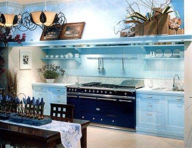 Bucatarie cu decor albastru