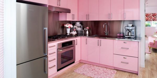Bucatarie roz