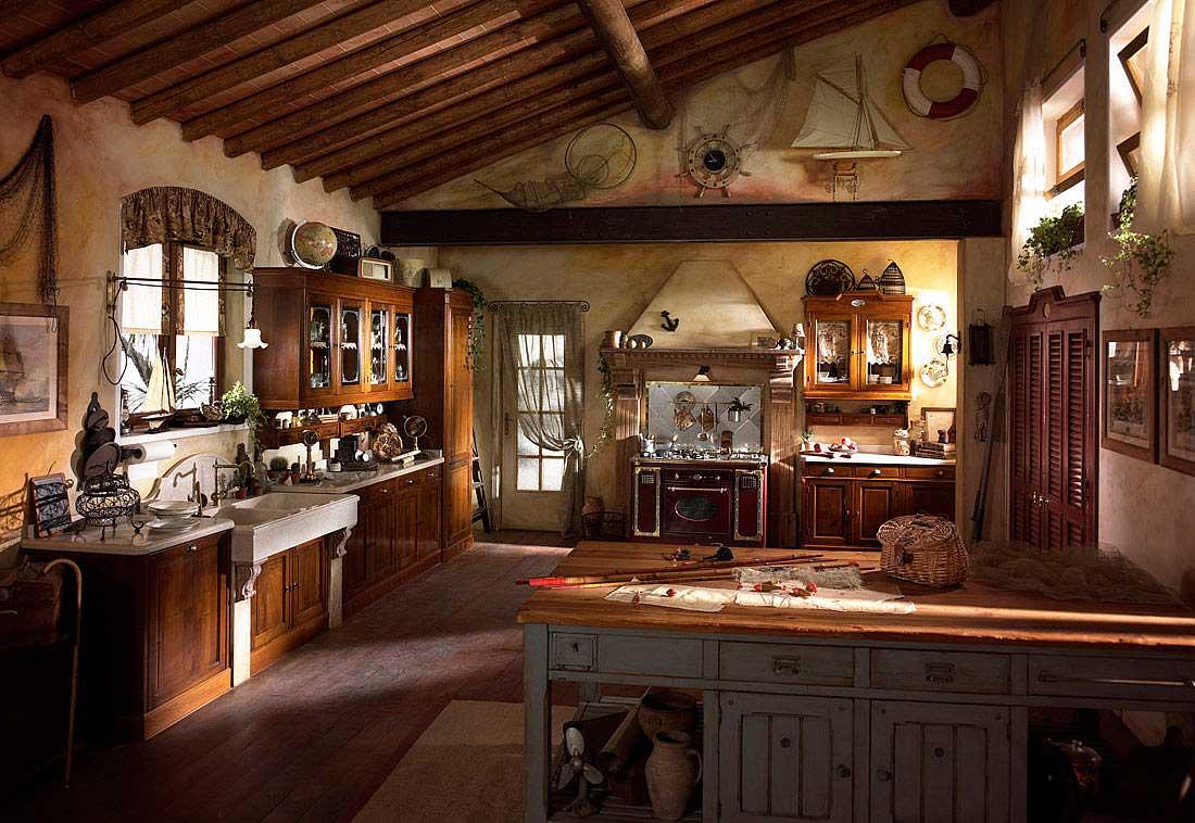 Bucatarie rustica din lemn
