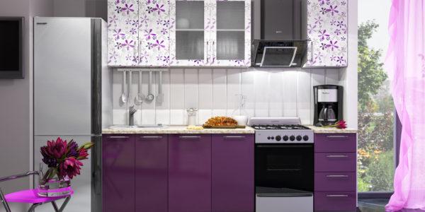 Decor lila bucatarie moderna