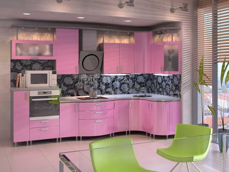 Decor roz-gri bucatarie