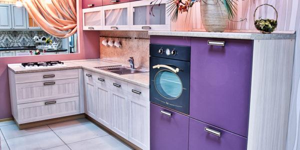 Decor violet aubergine bucatarie mica