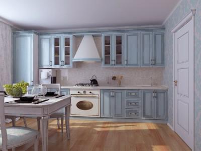 Design albastru bucatarie