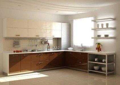 Design bej-maro in bucatarie