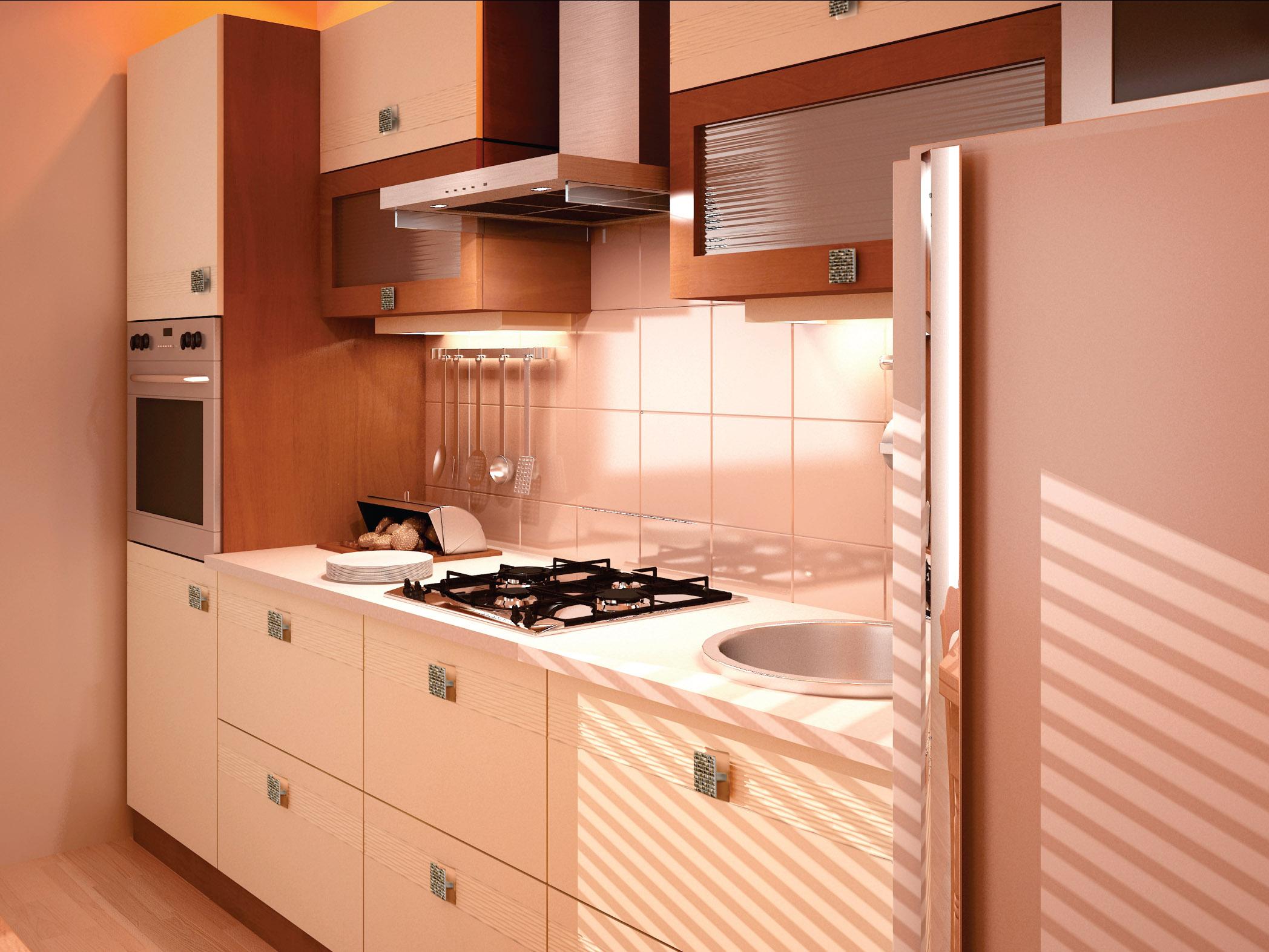 Mobilier in culoarea vaniliei bucatarie eleganta