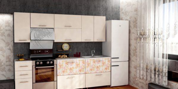 Mobilier in culoarea vaniliei bucatarie moderna