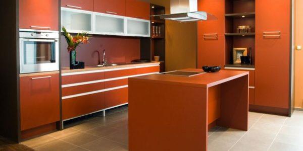 Mobilier portocaliu bucatarie