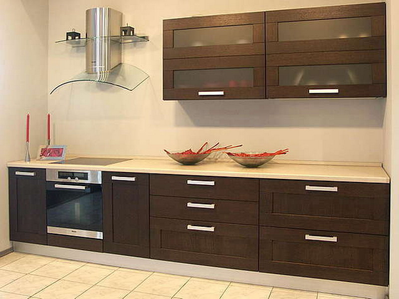 Mobilier wenge bucatarie mica